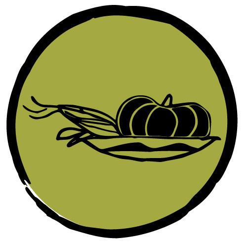 Icon of corn and pumpkin